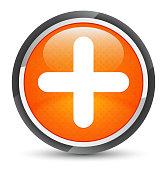 Plus icon galaxy orange round button