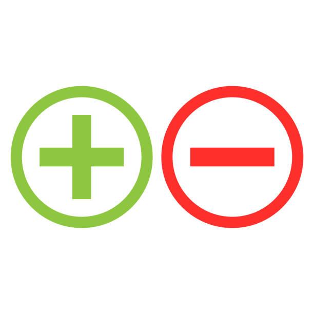 illustrazioni stock, clip art, cartoni animati e icone di tendenza di plus minus icon isolated vector - segno meno