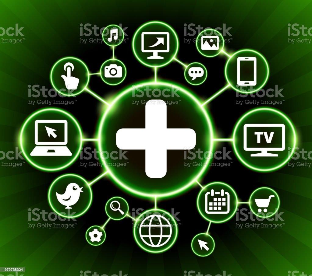 Pluszeichen Internet Kommunikation Technologie dunkle Buttons Hintergrund - Lizenzfrei Bildhintergrund Vektorgrafik