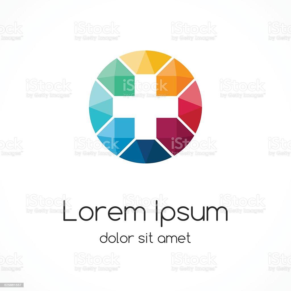 Plus sign logo template. Medical healthcare hospital symbol. vector art illustration