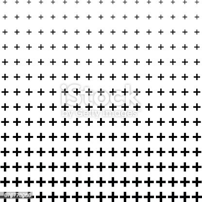 an amazing Plus Sign pattern design background in Black and white