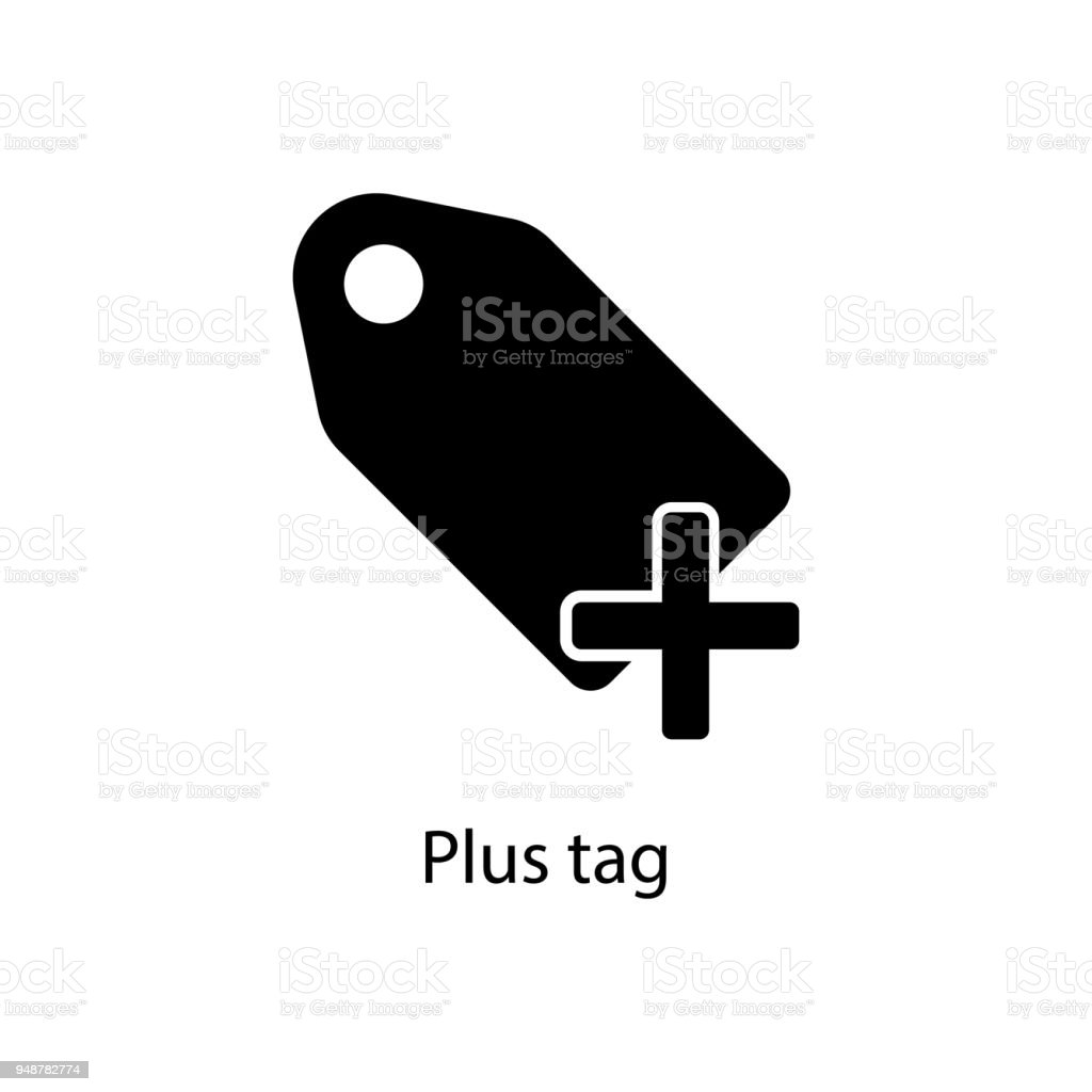 Plus Tag Icon Element Of Minimalistic Icon For Mobile Concept And