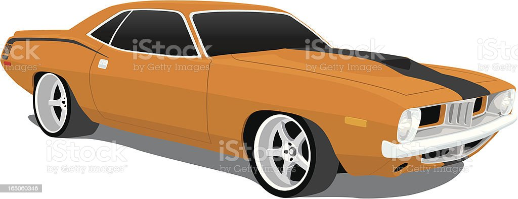 Plymouth Barracuda vector art illustration