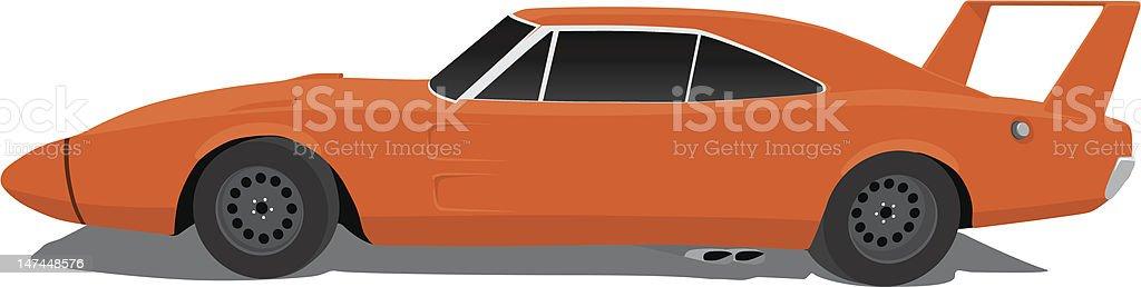 Plymouth Super Bird 1970 royalty-free stock vector art