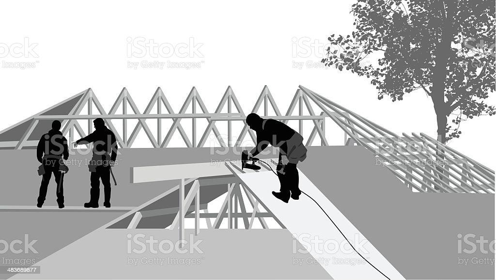 Plywood vector art illustration