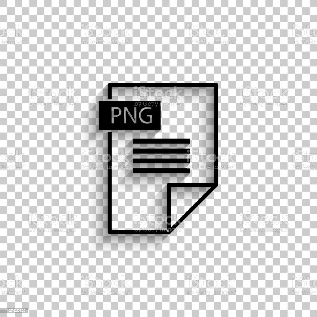 Png Icon Black Vector Icon With Shadow Stock Illustration