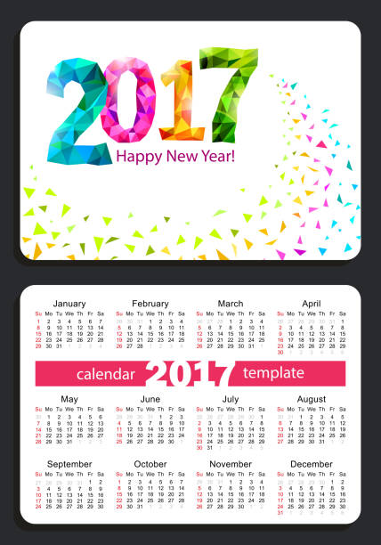 Royalty Free Pocket Calendar Template Clip Art Vector Images
