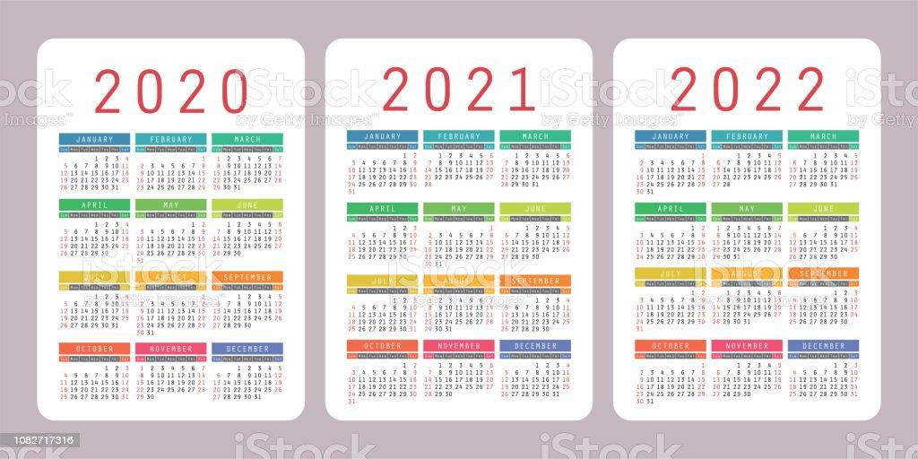 Calendrier De Poche 2022 Calendrier De Poche 2020 2021 2022 Ans Modèle De Conception De