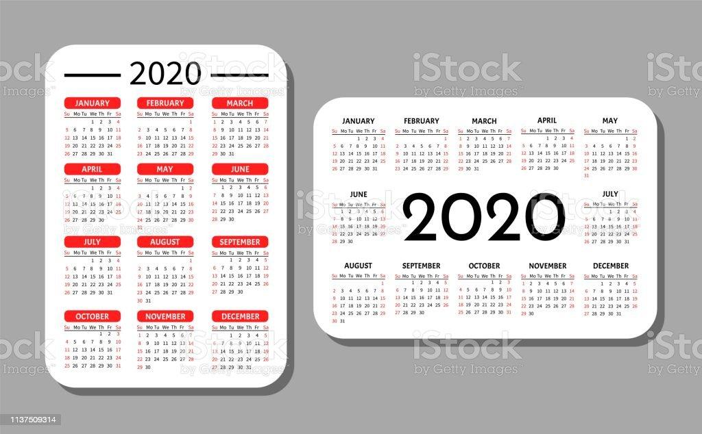 Pocket Calendar Template Stock Illustration - Download Image Now