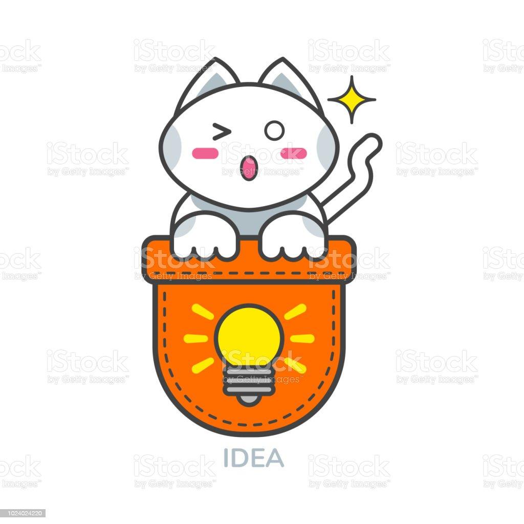 アイデア ポケットかわいい猫ア...
