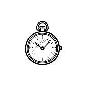 'Antique engraving of a pocket watch (isolated on white). Published in Systematischer Bilder-Atlas zum Conversations-Lexikon, Ikonographische Encyklopaedie der Wissenschaften und Kuenste (Brockhaus, Leipzig) in 1844.CLICK ON THE LINKS BELOW FOR HUNDREDS MORE SIMILAR IMAGES:'