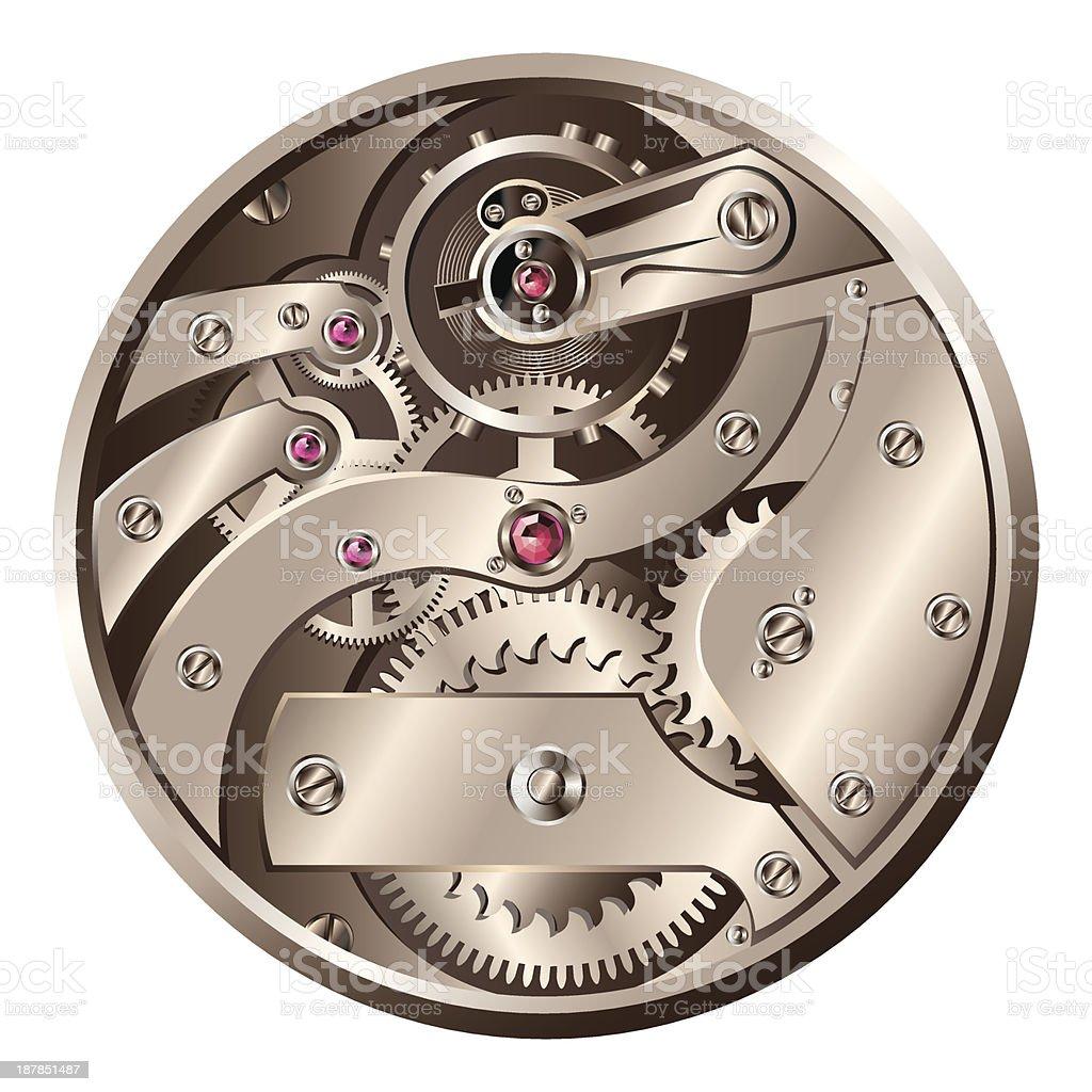 Pocket watch interiors vector art illustration