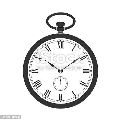 istock Pocket watch sign 1298318404