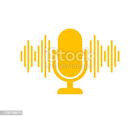 istock Podcast. Badge, icon, stamp, logo. Vector stock illustration. 1209198574