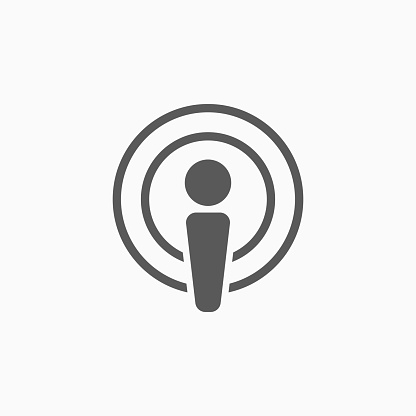 podcast icon, podcast vector