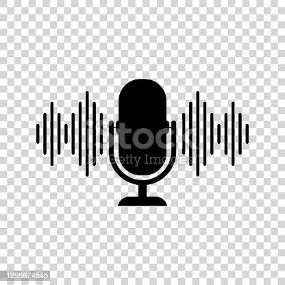 istock Podcast icon. Vector illustration. 1295674545