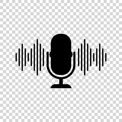 Podcast icon. Vector illustration.