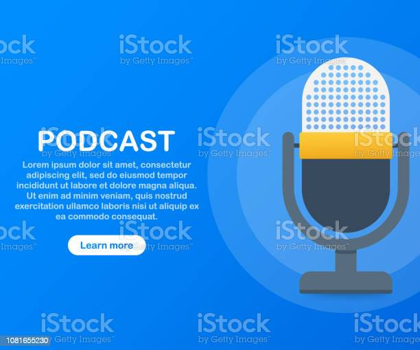 Podcast Icon Vector Symbol In Flat Isometric Style Isolated On Color Background Vector Illustration Stock Illustration - Download Image Now