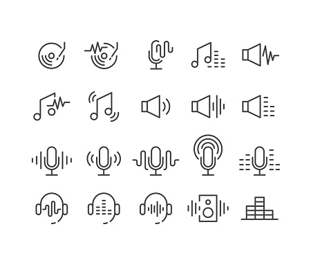 Podcast Icons - Classic Line Series
