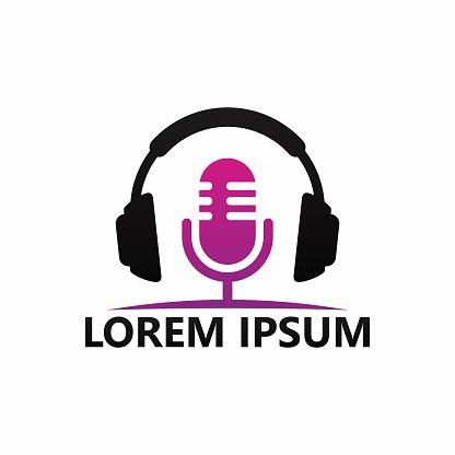 Podcast Music Logo Template Design