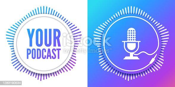 istock Podcast Round Design Audio Element 1283190534