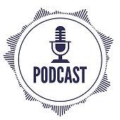 istock Podcast Round Design Audio Element 1283328696