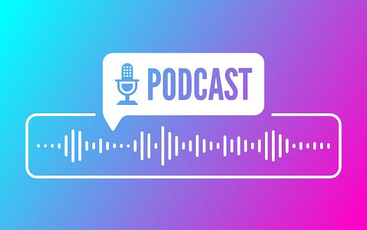 Podcast Sound Audio Wave Design