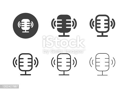 Podcasting Icons Multi Series Vector EPS File.