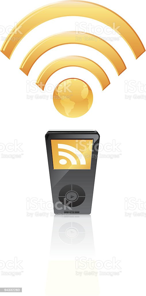 Podfeed - RSS royalty-free stock vector art