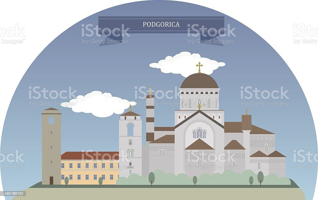 Podgorica, Montenegro vector art illustration