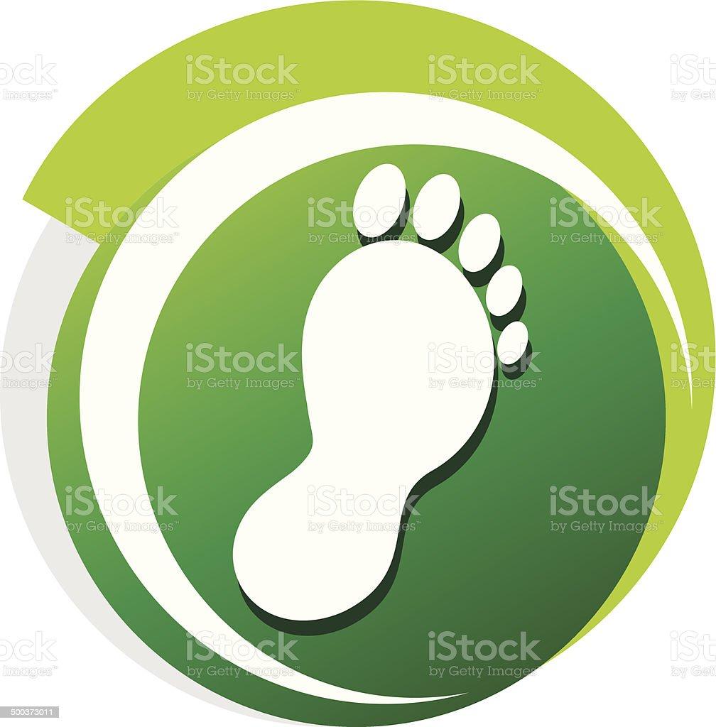 podiatrist grünen symbol – Vektorgrafik