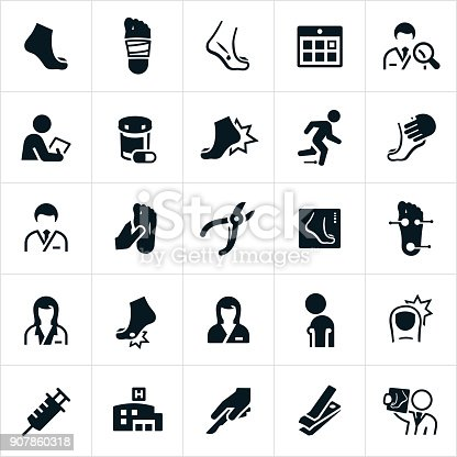 Podiatry Icons Stock Vector Art & More Images of Ankle