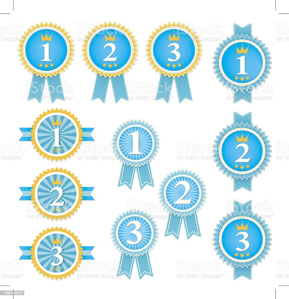 Podium Ribbon vector art illustration