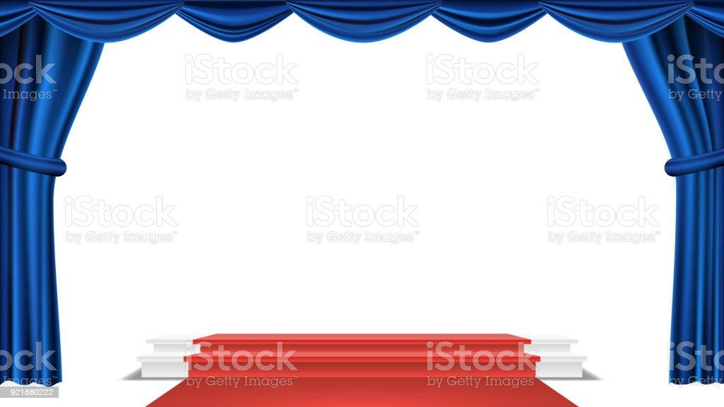 Vorhang Theater Galerie : Res vorhang bühne mit neonlicht u stockfoto videodoctor