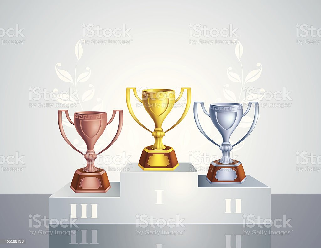 Podium with Trophies royalty-free podium with trophies stock vector art & more images of award