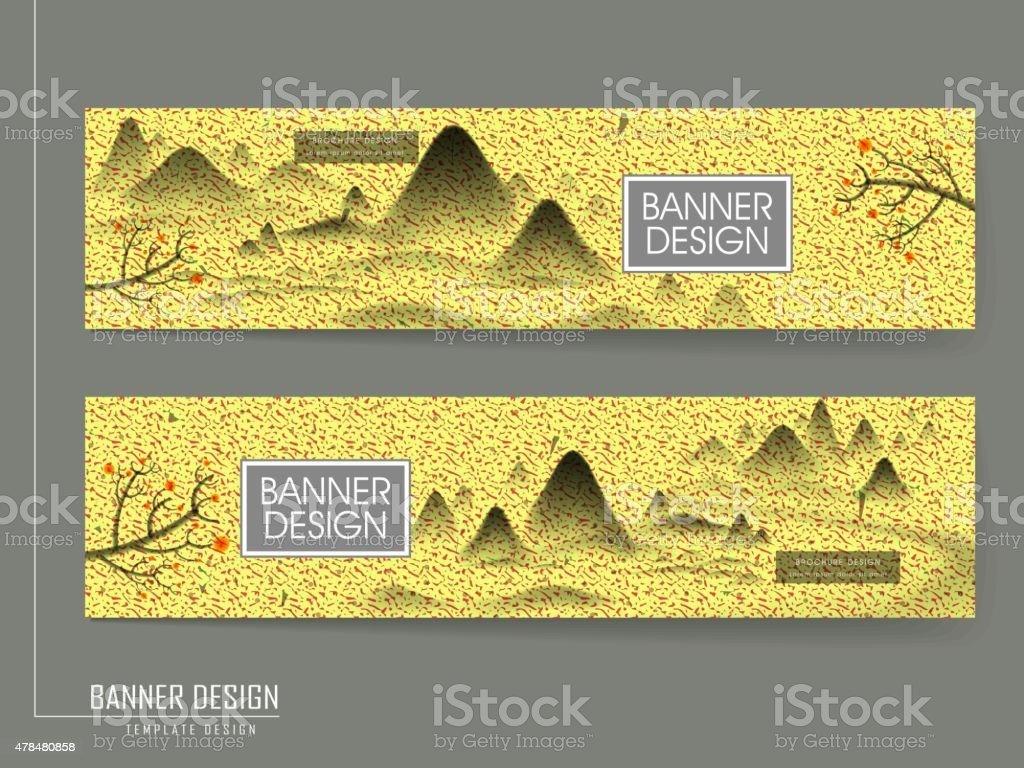 Poésie Banner Design Avec De La Peinture De Paysages