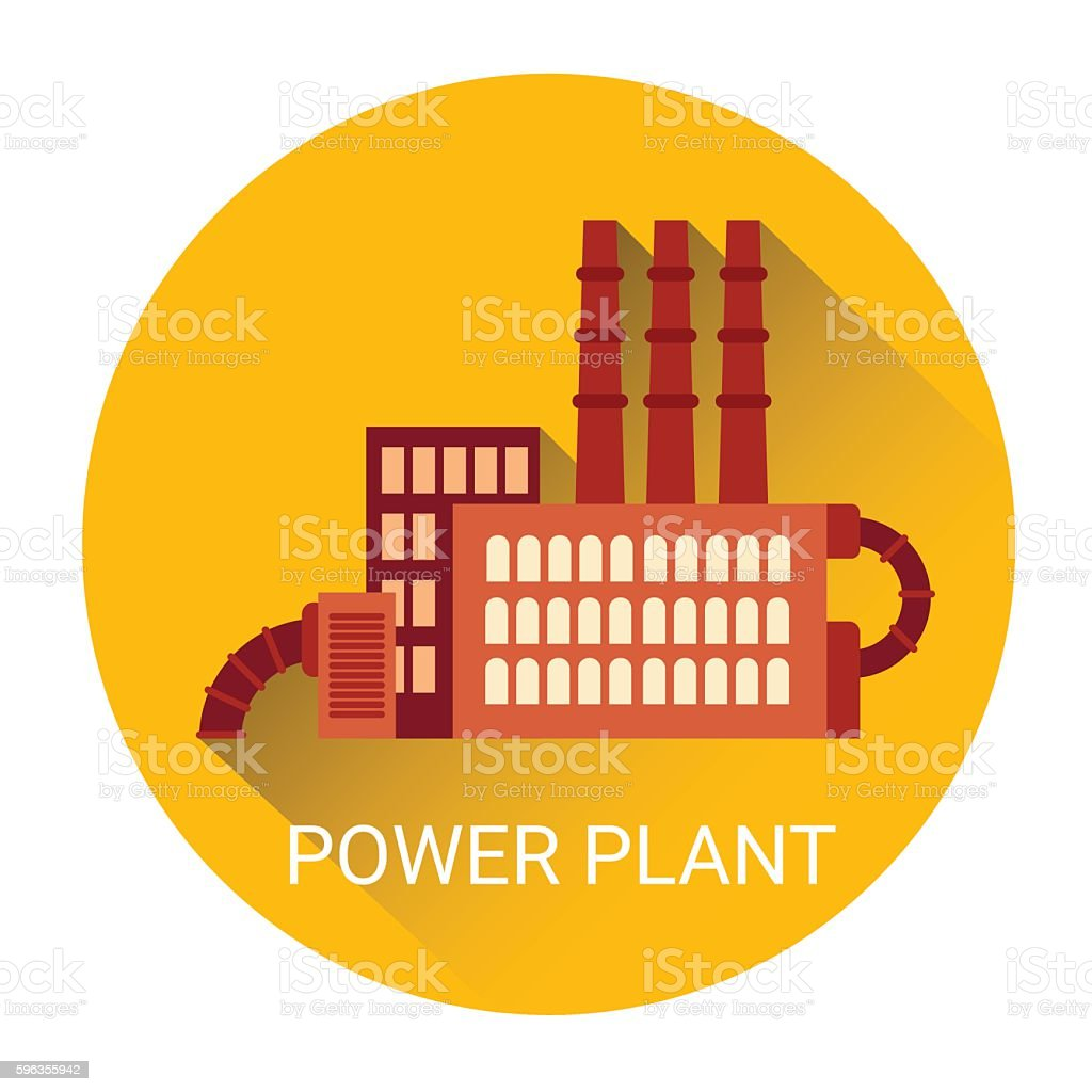 Poewr Plant Flat Icon royalty-free poewr plant flat icon stock vector art & more images of business