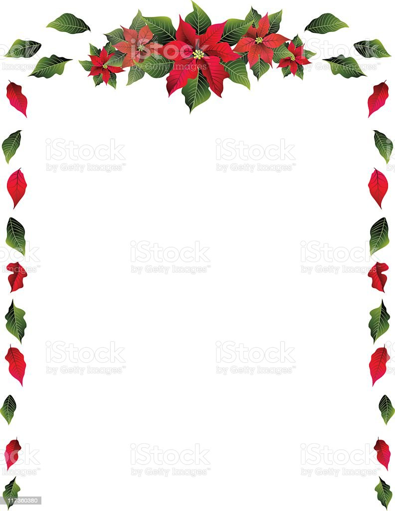 Poinsettia Border royalty-free poinsettia border stock vector art & more images of christmas