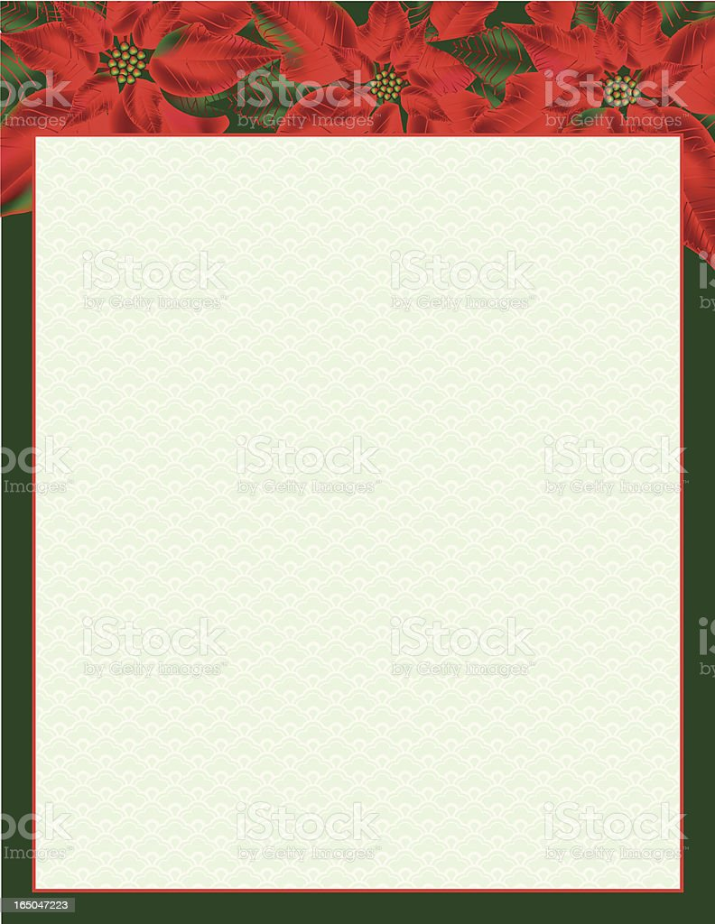 Poinsettia border royalty-free stock vector art