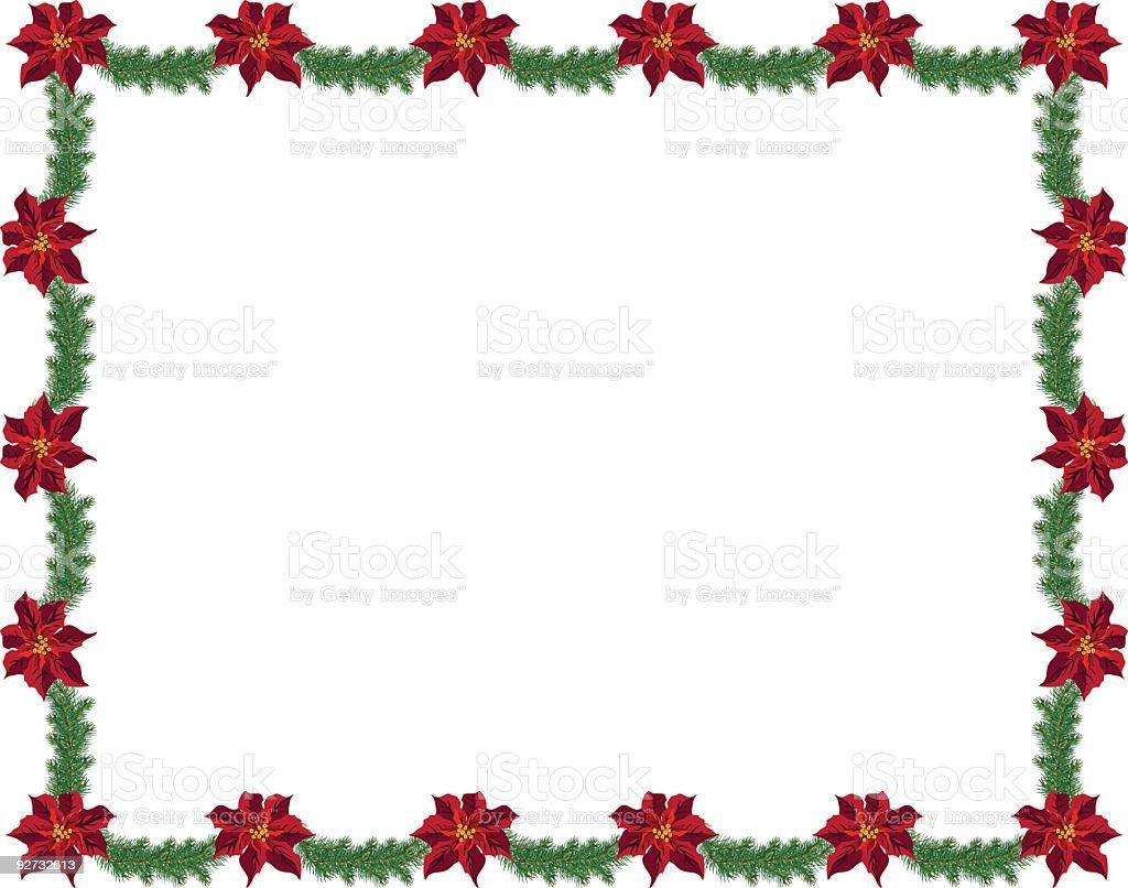 Weihnachtsstern Frame Stock Vektor Art und mehr Bilder von ...