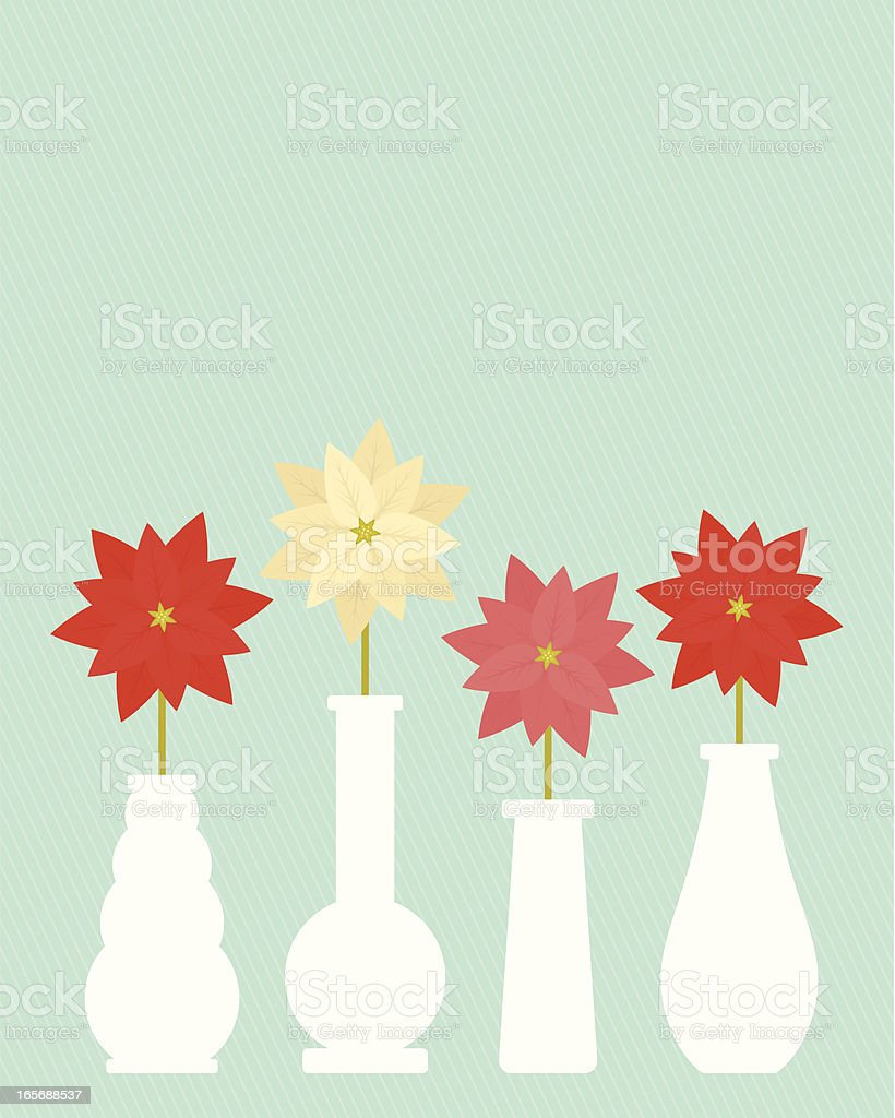 Poinsettia Vases royalty-free poinsettia vases stock vector art & more images of backgrounds