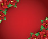 Poinsettia Background. EPS 10.