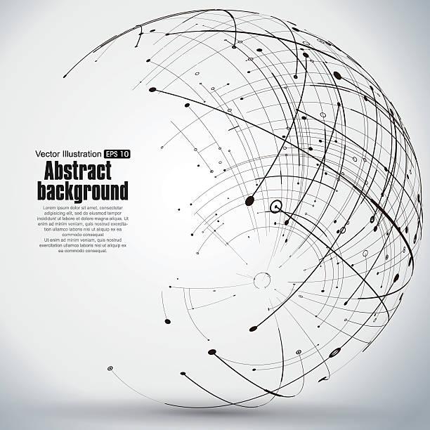 Punkt und Kurve aus dem Bereich Gitternetzlinien. – Vektorgrafik