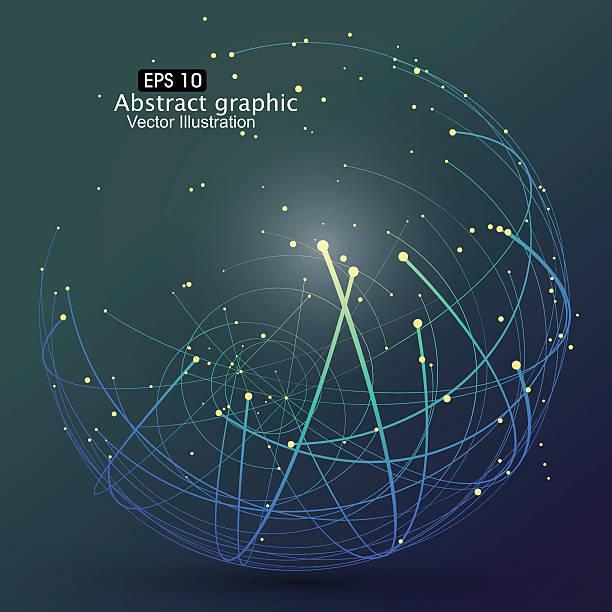 ilustrações de stock, clip art, desenhos animados e ícones de ponto e curva construído a esfera em modelo de arames. - longitude