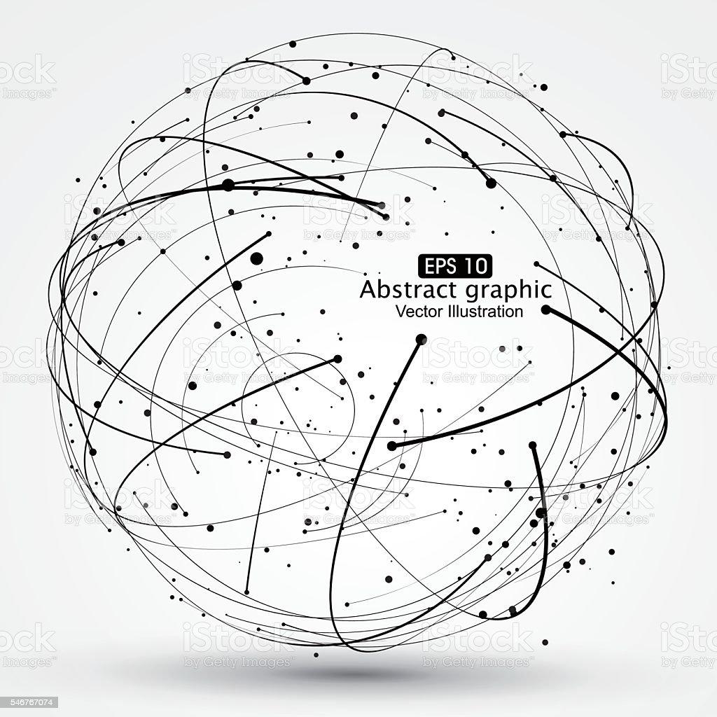 Punkt und Kurve aus dem Bereich Gitternetzlinien. - Lizenzfrei Abstrakt Vektorgrafik