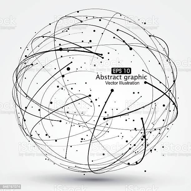 Punkt Und Kurve Aus Dem Bereich Gitternetzlinien Stock Vektor Art und mehr Bilder von Abstrakt