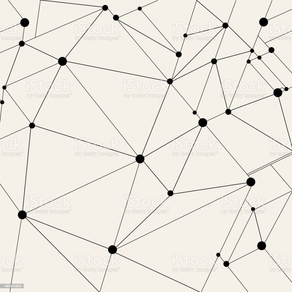 point and line pattern background vector art illustration