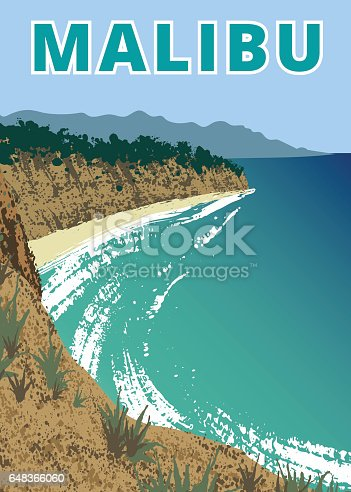 Landscape of Point Dume Natural Preserve, USA
