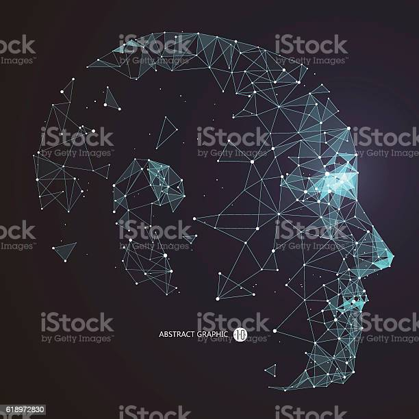 Point line connection from the head contourvector illustration vector id618972830?b=1&k=6&m=618972830&s=612x612&h=q3gensllvp2v qd5ydqcp zl4ebaifjdbdhhjnruxqw=