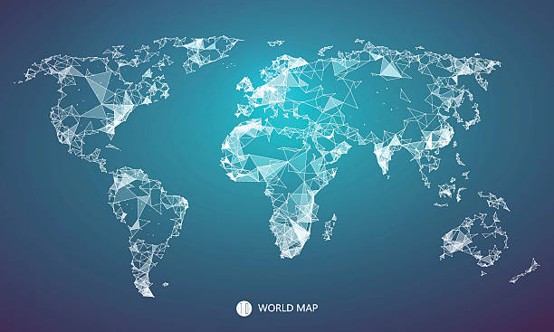 Royalty free world map clip art vector images illustrations istock point line surface composition of the world map vector art illustration gumiabroncs Images